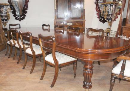 Mahagoni viktorianischen Esstisch Stühle Set