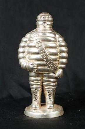 Michelin-Männchen Bronze Statue Skulptur Bibendium Französisch Nouveau