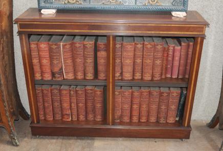 Offene Bücherschrank Regency Mahagoni Möbel Bücherschränke