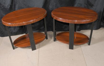 Paar Deco Moderne Beistelltische Möbel