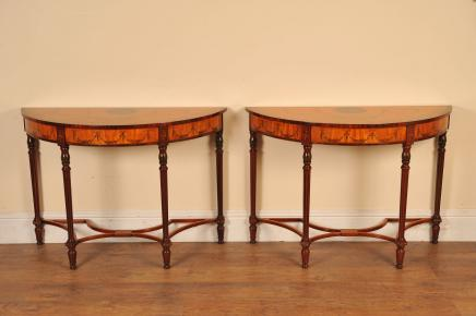 Pair Regency Adams Console Tabellen Painted