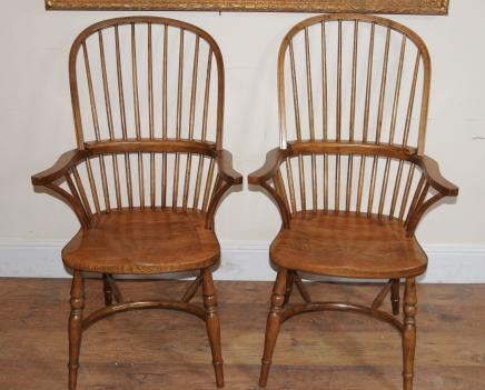 Pair Windsor Dining Sessel Sessel Windsors