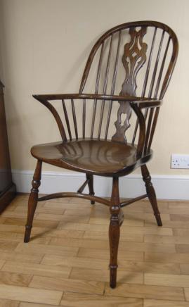 Pair Windsor Stühle Bauernhaus Oak Küchenstuhl