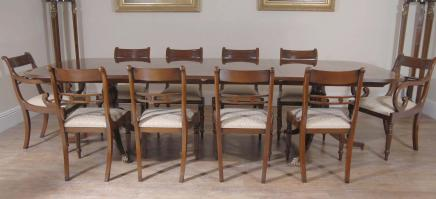 Regency Dining Set Tisch & Stühle Mahagoni Suite