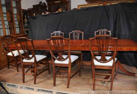 Regency Dining Set Tisch Stuhl Suite 8 Shieldback Stühle