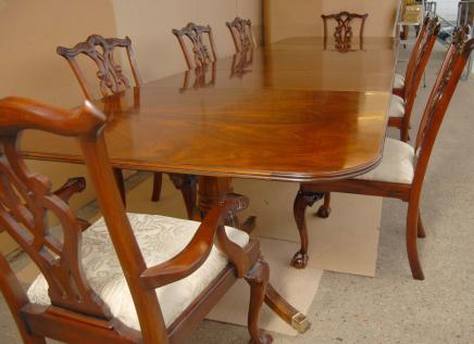 Regency Esstisch Chippendale-Stühle Set Suite