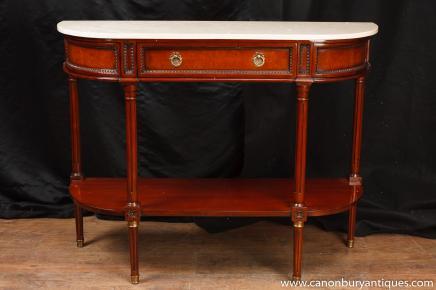 Regency Konsolentisch Mahagoni Marmor Top Sofa Halle Tabellen