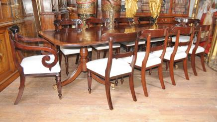 Regency Mahagoni Dining Set William IV Stühle Tisch Suite