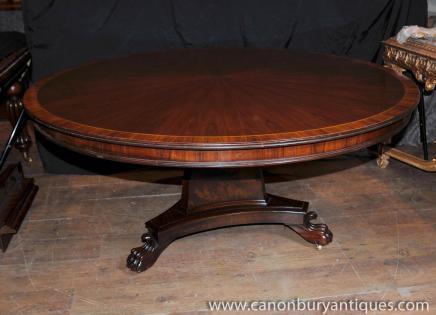 Regency Runde Center Tisch Esstische Palisander