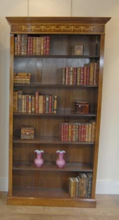 Regency Sheraton Offene Bücherschrank Nussbaum Bücherregale Open Front