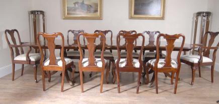Regency Tisch-Set Queen Anne Stühle Esszimmer Suite