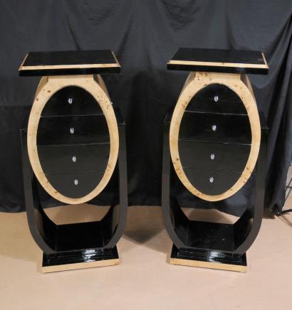 Retro Art Deco Nachttische Kommoden Tische