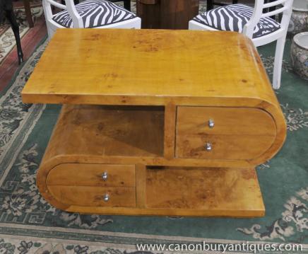 S-Form-Art-Deco-Cocktail Coffee Table Tabellen 1920er Jahren Möbel