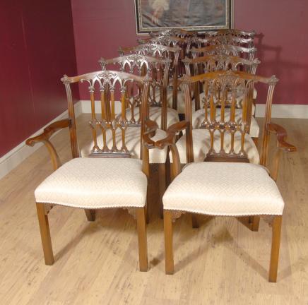 Set 10 Englisch Mahagoni viktorianischen Dining Chairs Stuhl