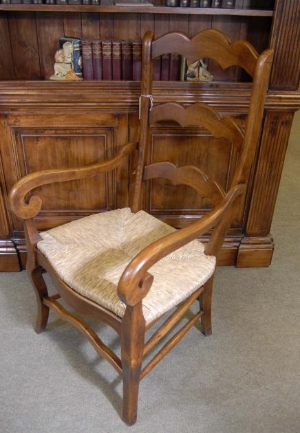 Set 6 Englisch Geschnitzte Ladder Rustikale Stühle Ladder Chair