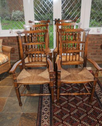 Set 6 Spindleback Küche Esszimmer Stühle Spindel