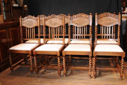 Set 8 Barley Twist Esszimmerstühle Küchenstuhl Bauern
