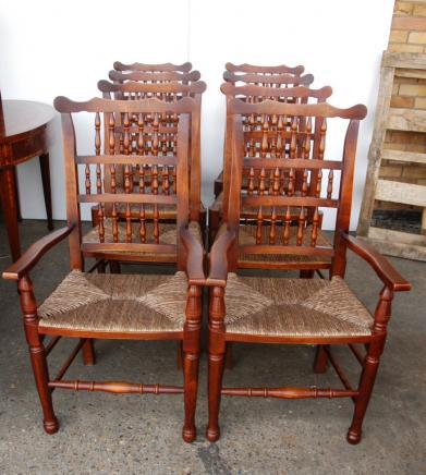 Set 8 Englisch Pad Fuß Spindel Zurück Stühle Spindleback