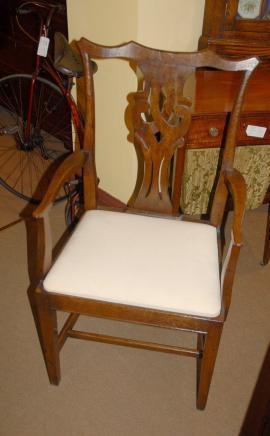 Set 8 Englisch Rustic Chippendale Esszimmerstühle