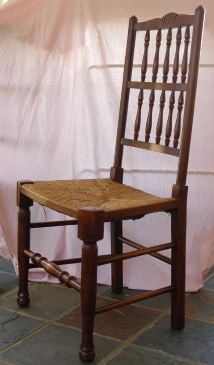 Set 8 Französisch Rustikale Spindleback Stühle in Eiche