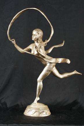 Silber Bronze Casting Jugendstil-Band-Mädchen-Paul Manship