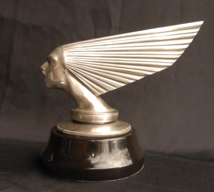 Silber Bronze Lalique Victoire Büste Art Deco