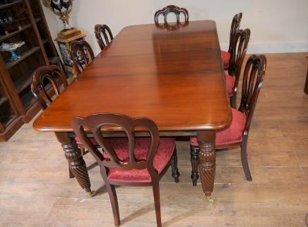 Victorian Ballon Zurück Stuhl, Tisch, Esszimmer Suite Set Mahagoni