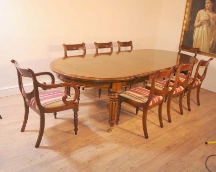 Victorian Tisch und Stühle Regency Ess-Set