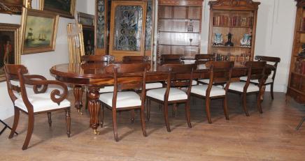Viktorianischen Dining Set Mahagoni Tabelle William IV Stühle