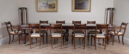 Viktorianischen Dining Set Regency Rosette Stühle Suite