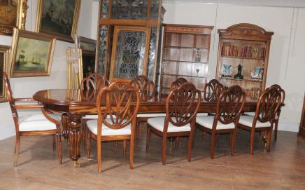 Viktorianischen Dining Table Set Prince Wales Stühle Mahagoni Suite Diner