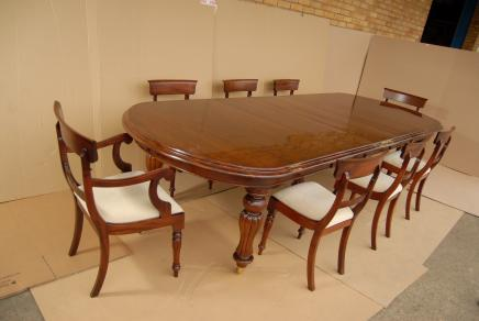 Viktorianischen Dining Table Set William IV Stühle Suite