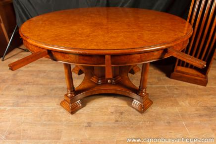 Walnut Regency Jupe Tabelle Ausweitung Runde Esstische