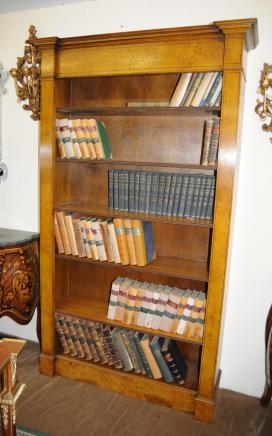 Walnut Regency Offene Bücherregal Buch-Kasten