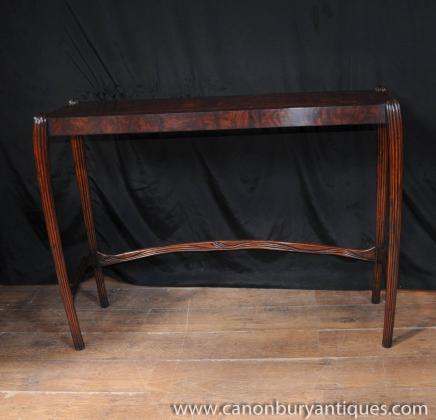 Walnut englischen Jugendstil Konsoltisch Halle Tabellen 1930er Jahren Möbel