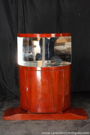 Weinlese-Art-Deco-Cocktail Drinks Cabinet Schränke Möbel