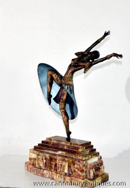 Art Deco Bronze-Statue von Almeria Chiparus 1920er Jahren Französisch Figurine