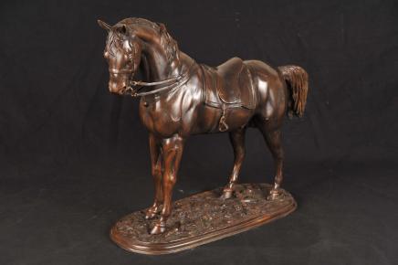 Englisch Bronze Horse Hengst Pferde Tier Statue