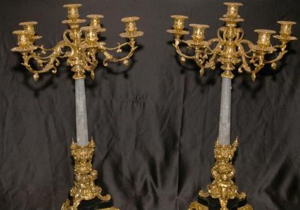KLICKEN SIE HIER KAUFEN PAIR 2 FT ITALIAN ROCK CRYSTAL Messingbeschläge Kandel KERZE auf Canonbury Antiquitäten