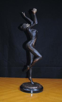 Art Deco Bronze-Ball Dancer Statue Figurine Französisch 1920er Jahren