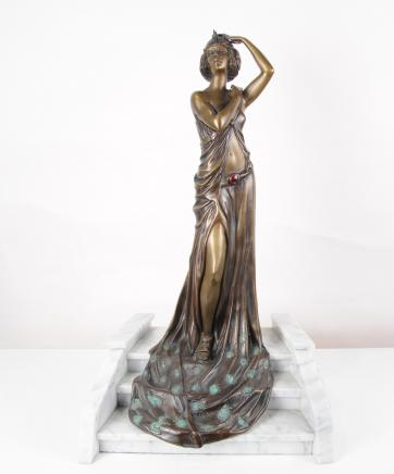 Art Deco Bronze Figur Grand Entrance von Riviere