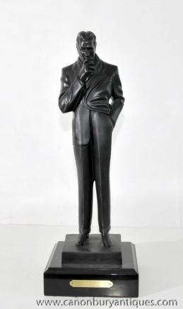 Art Deco Bronzeguss der Raucher JC Leyendecker 1920er Figur Statue