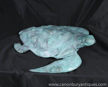 Bronze Sea Turtle Brunnen Wasserspiel Schildkröte
