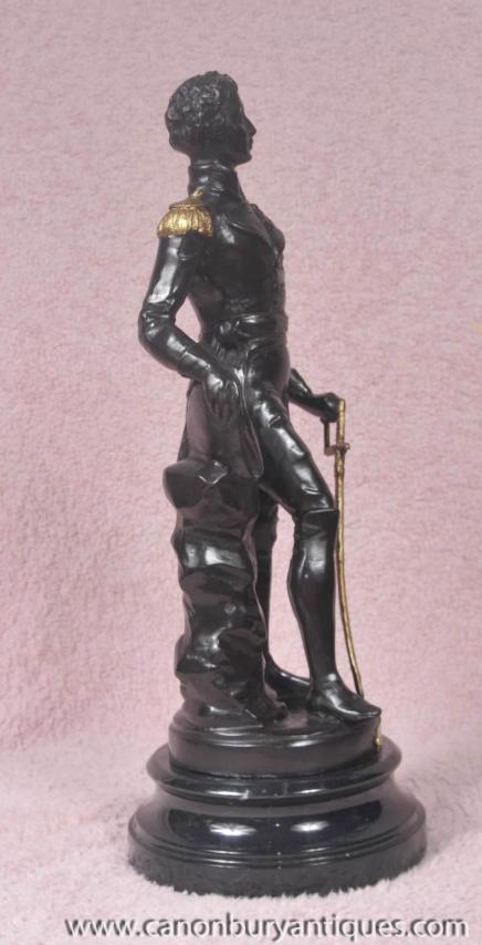 Bronze Statue Herzog von Wellington Figurine Waterloo englischen Militär