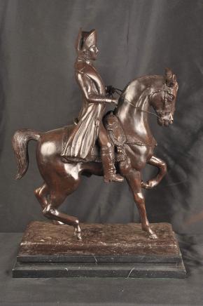 Bronze Statue Napoleons Pferd Militär Kaiser