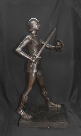 Bronze römischer Gladiator Krieger Unterzeichnung Gardet