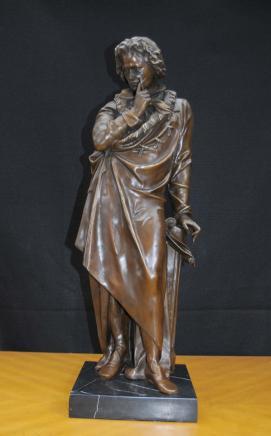 Bronzeguss von Ludwig van Beethoven Statue Figurine deutsche Komponist