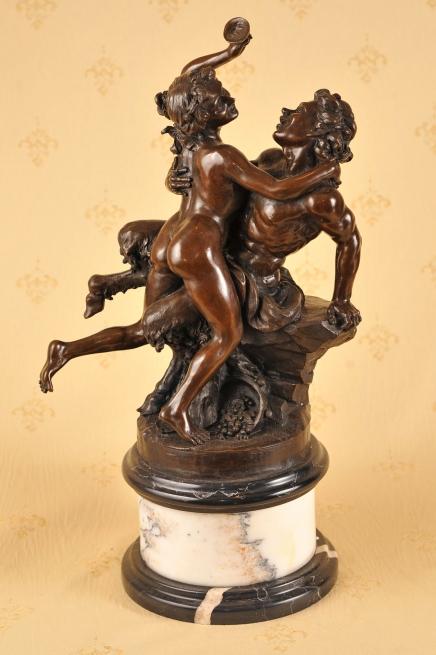 Classic Französisch Bronze Bacchus Satyre Sabine Statue