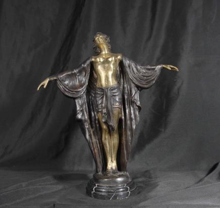 Französisch Bronze Deko Figur Semiramis Unterzeichnung Preiss
