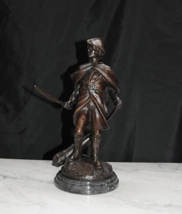 Französisch Bronze Statue Soldat Militär Casting